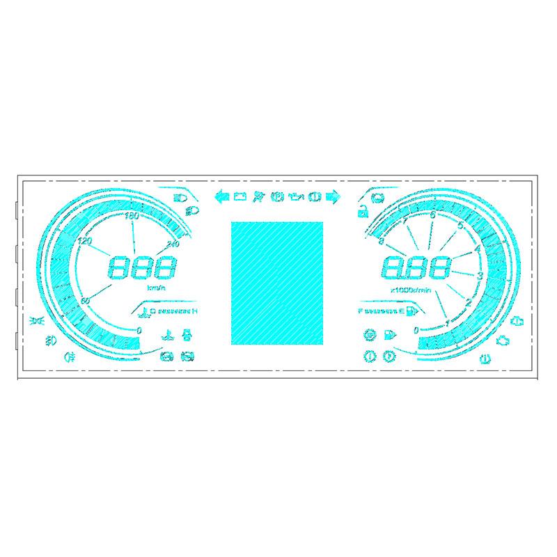 大尺寸VA段码液晶